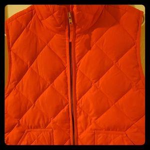 Orange Jcrew Quilted Vest XL